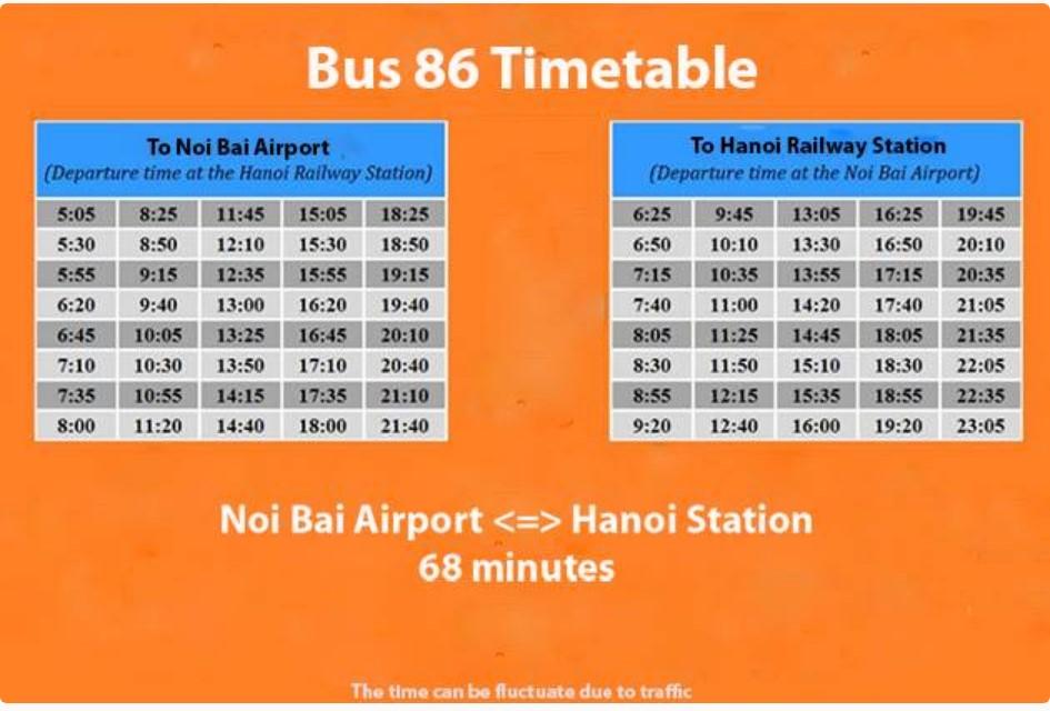 Hanoi airport bus schedule